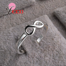 Купить с кэшбэком JEEXI Big Promotion 925 Sterling Silver Infinity Rings Jewelry Fashion Engagement Anillos Bridal Wedding Finger Rings For Woman