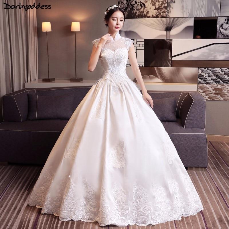 Darlingoddess Vestido De Noiva Luxury Muslim Wedding Dress