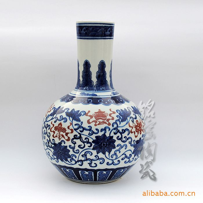 Supply of blue and white porcelain Vase antique furnishings ornaments pottery collections 10016 #