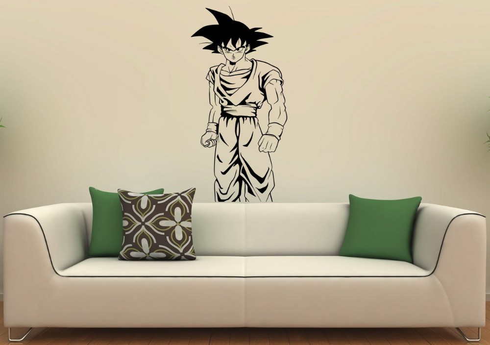 Free Shipping Japanese Anime Dragon Ball Monkey Wall Sticker Home Decoration  Boys Bedroom Decor Vinyl Removable