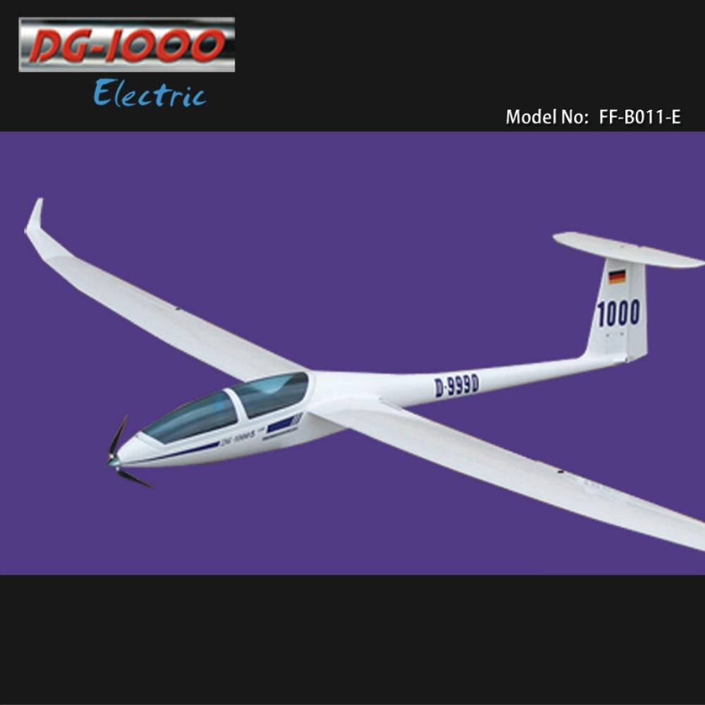 DG-1000 Electric Glider 2630mm KIT with only Motor & Propeller RC fiberglass & wood model sailplane