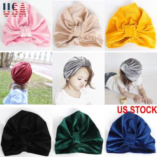 958dcc18026 PUDCOCO Newest Baby Girls Turban Knot Head Wrap Cute Kid Rabbit Ear Hat  Bunny Ear Velvet Pop Caps