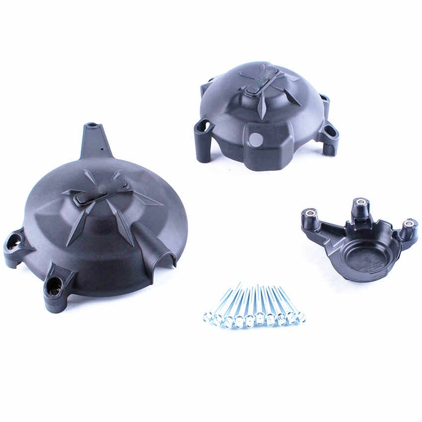 Для Kawasaki ER6N ER6F 2006 2007 2008 2009 2010 2011 2012 2013 2014 2015 2016 Черный Двигатель Stator чехол Комплект