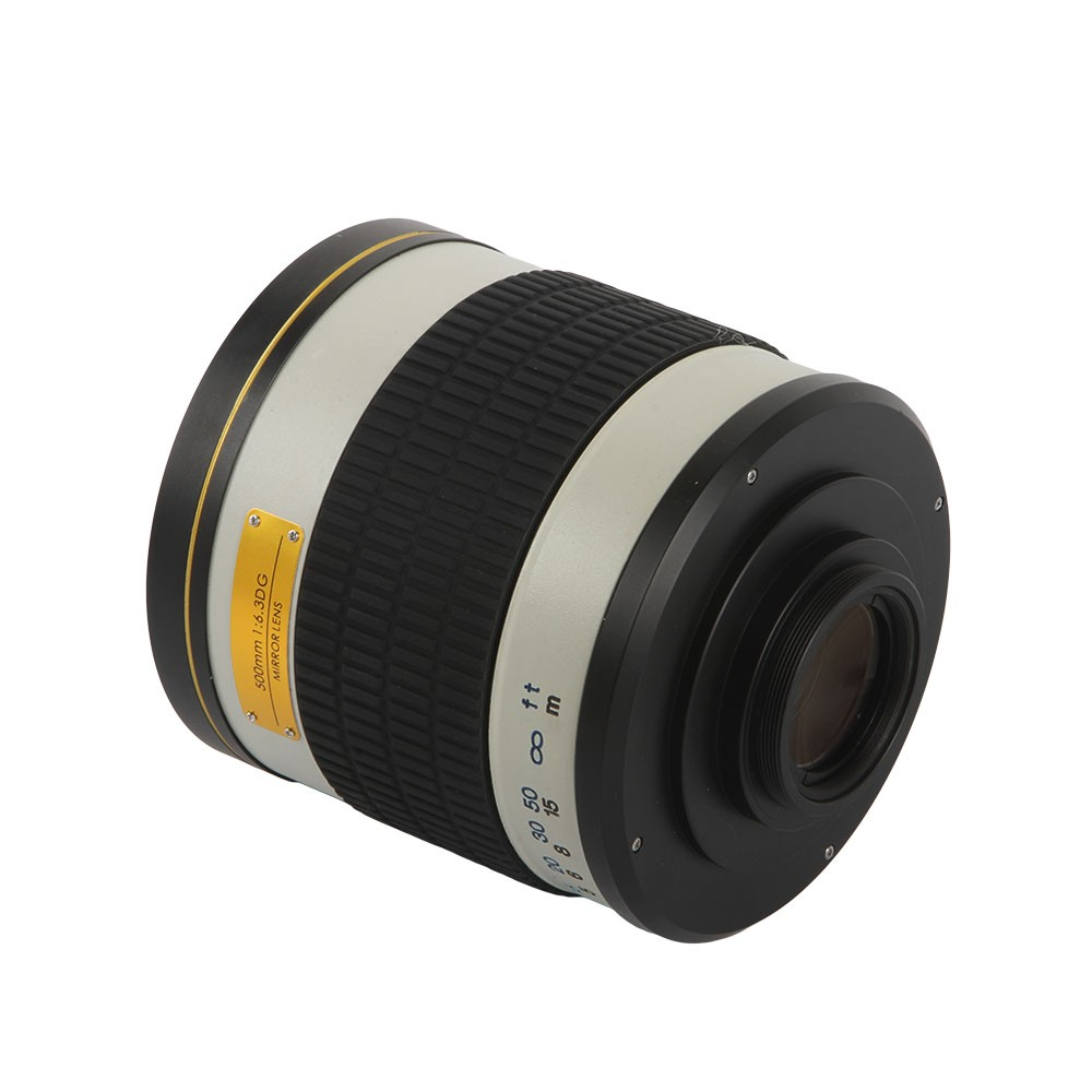 500mm F/6.3 Telephoto Mirror Lens + T2 Mount Adapter Ring for Canon Nikon Pentax Sony Olympus DSLR 5