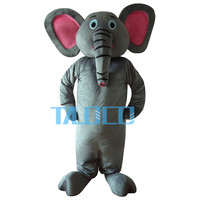 Grey Elephant Costume Pink Eye Elephant Mascot Costume