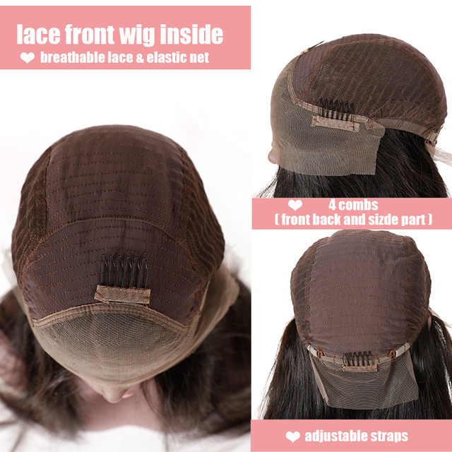 Natural Wave 13×4 Lace Front Wigs Remy Human Hair