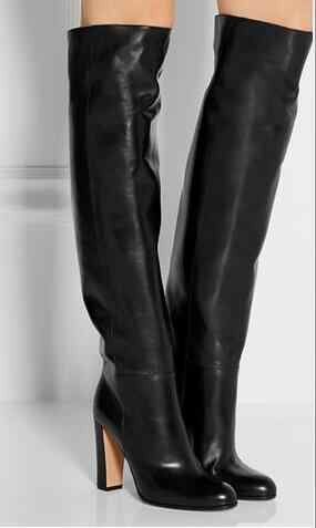 New women fashion over knee high boots