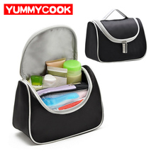 Black Women s Cosmetic Toiletry Storage Bag Case Bathroom Beauty Product Makeup Home Organization Box Travel