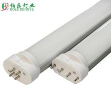 2g11 led tubo de luz pll lampara PL bar 4pin Epistar SMD difusa cubierta 8W 12W 14W 15W 18W AC96-265V frio blanco