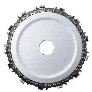 Image 5 - Hoja de sierra Circular de 115x22mm, cadena de motosierra, disco de tallado de madera, amoladoras angulares para carpintería, Universal para discos de corte de madera de 4,5 pulgadas