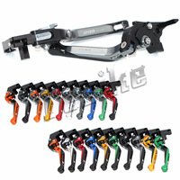 CNC Brake Clutch Levers Motorcycle For Ducati 1299 2015 2016 Foldable Extendable Logo (1299 Panigale)