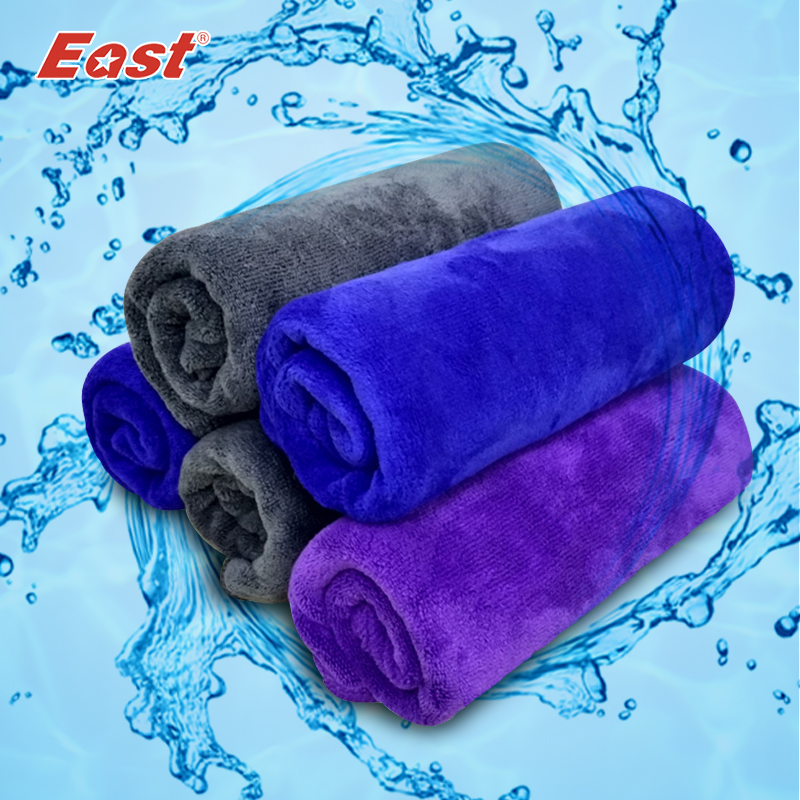 5abfed4f2b4 East 3 Pcs 30x70cm Microfiber Velvet Cleaning Cloth Thickening Soft  Absorbent Car Washing Towel Home Cleaning Cloths