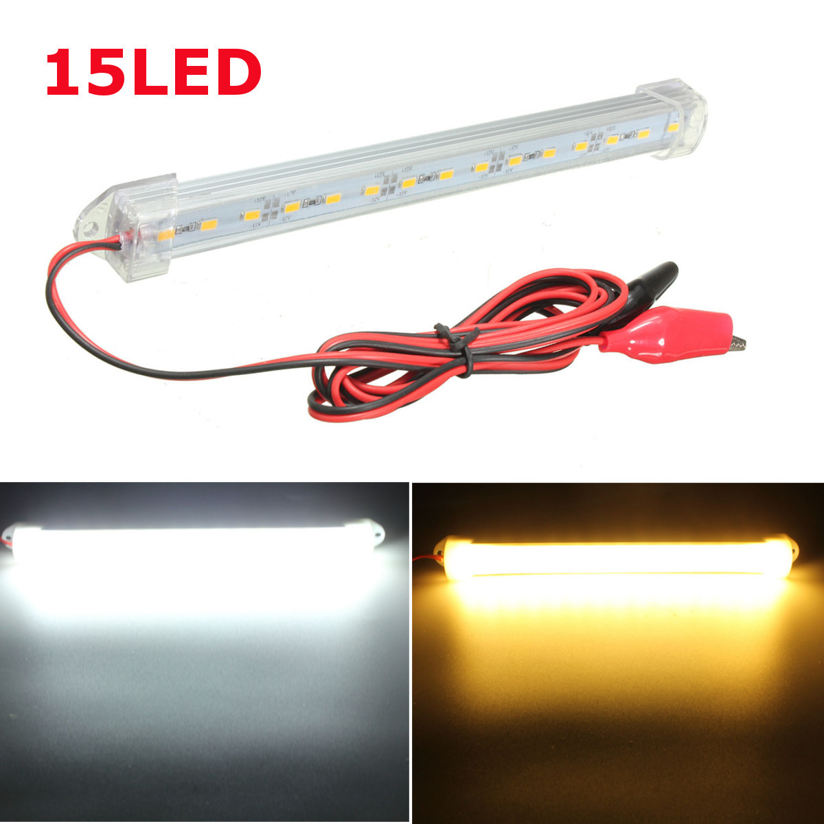 Newest 150cm 12V LED Car Interior Light Bar Tube Strip Lamp Van Boat  Caravan Motorhome Truck