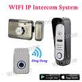 Waterproof Smart WiFi Video Doorbell WI-FI Intercom System Night Vision, Monitoring, Unlocking and Talking by Mobile Phone