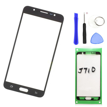 Replacement Outer Glass Lens For Samsung Galaxy J7 2016 J710 J710F LCD Touch Screen Front Glass Outer Panel + Adhesive tools