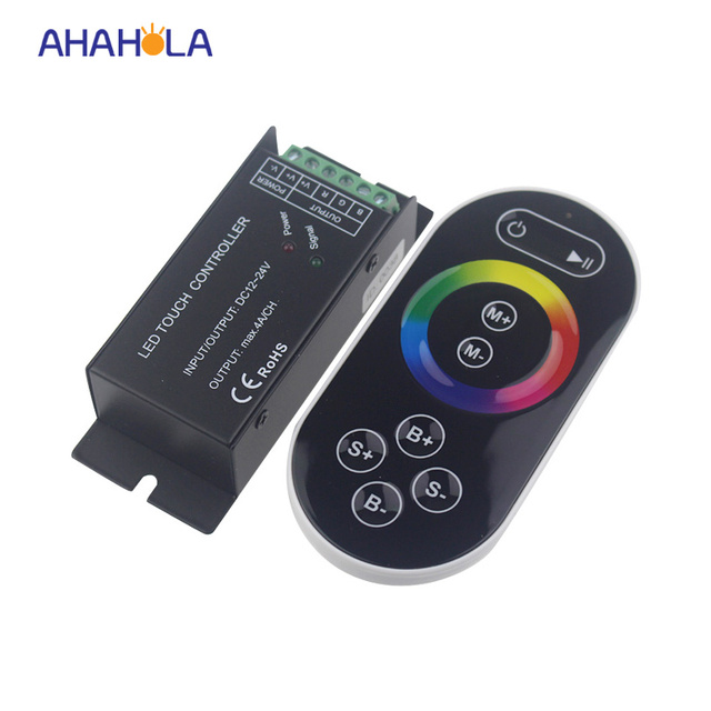 Aliexpress buy dc 12 24v remote control rf wireless touch rgb dc 12 24v remote control rf wireless touch rgb led controllercontrol led strip aloadofball Image collections