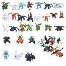Hot Dragon Toys Night Fury Toothless white Light Hiccup Astrid PVC Action Figures