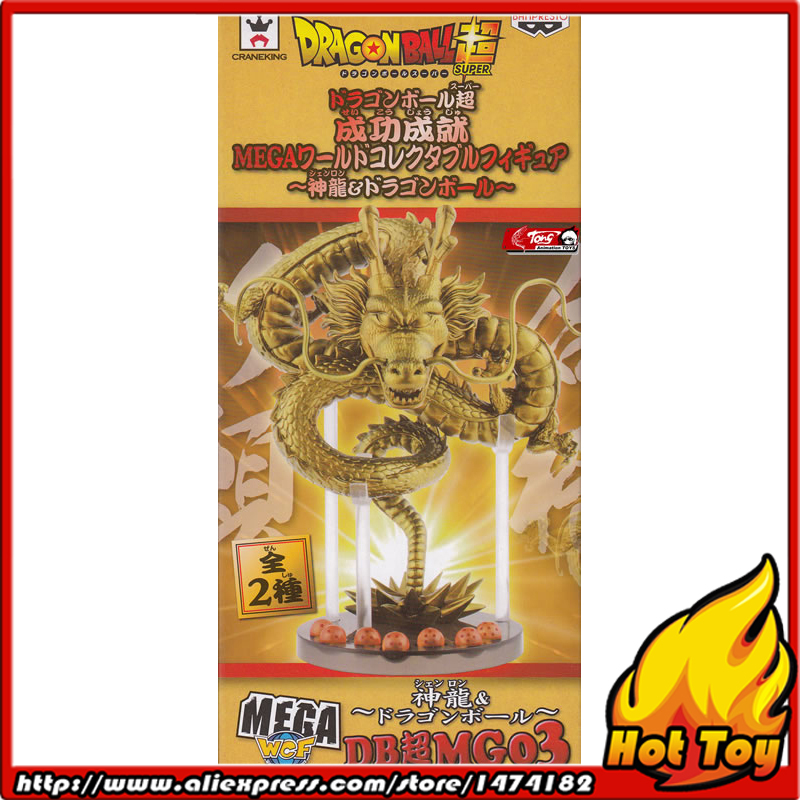 100% Original BANPRESTO MEGA WCF Collection Figure - Golden Shenron (with 7 pieces of dragon balls) from Dragon Ball Super original banpresto world collectable figure wcf the historical characters vol 3 full set of 6 pieces from dragon ball z