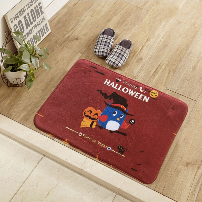 Happy Halloween Printed Room Mats Bathroom Kitchen Carpets Welcome Floor  Carpet Doormats Rugs For Living Room Anti Slip Tapete In Carpet From Home U0026  Garden ...