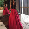 Beaded Luxury Evening Dresses with Bows 2016 Hot Pink robe de soiree Satin Long Formal Party Arabic Dress Backless Evening Gowns