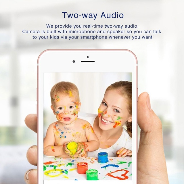 Howell Mini CCTV WiFi Camera IP 1080P Home Security Camera Wi-Fi P2P Two Way Audio Night Vision 3 Antennas Wireless Baby Monitor