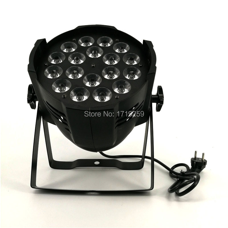 16pcs/lot LED Par 18x18W RGBWA+UV 6in1 LED Par Can Par led spotlight DJ projector Wash lighting stage uplight Aluminum alloy 4pcs lot led par 18x15w rgbwa 5in1 quad led par can par64 led spotlight dj projector wash lighting stage light