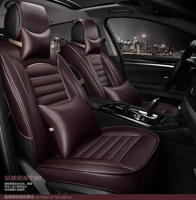 for volvo s40 s80 s60 v40 v60 xc60 xc90 waterproof black leather car seat cover front and back. Black Bedroom Furniture Sets. Home Design Ideas