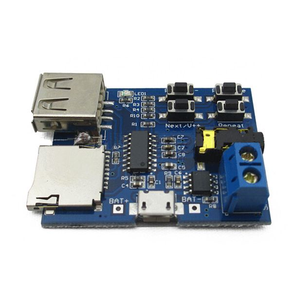 HOT-Mp3 Lossless Decoder Board Comes With Amplifier Mp3 Decoder TF Card U Disk Decoder Player