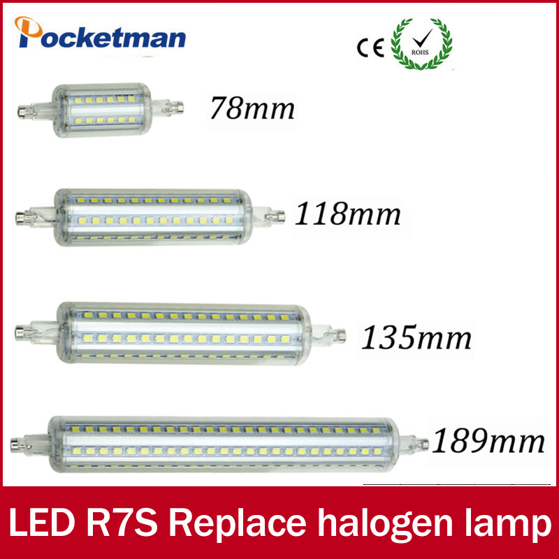 LED Light Dimmable R7S led J118 118mm 360 degree 2835SMD J78 78mm lampadas led r7s bulb J135 135mm replace halogen lamp rayway dimmable 10w r7s led 118mm 360degree 5w 78mm lampadas led r7s bulb 12w 135mm 15w 189mm replace halogen lamp glass cover