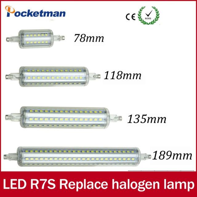 Светодио дный свет затемнения R7S светодио дный J118 118 мм 360 градусов 2835SMD J78 78 мм лампады светодио дный r7s лампы J135 135 мм заменить галогенные лампы