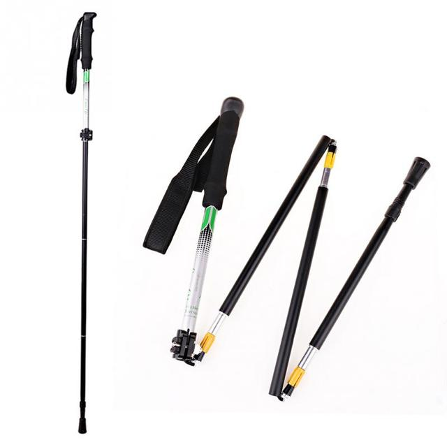 b8cd0bc4d03 Luoqi Folding Collapsible Trekking Pole Climbing Hiking Stick Alpenstock  Adjustable Section 5