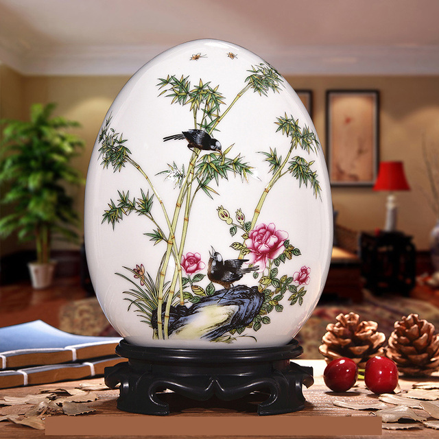 Antique Lucky Egg with Animals