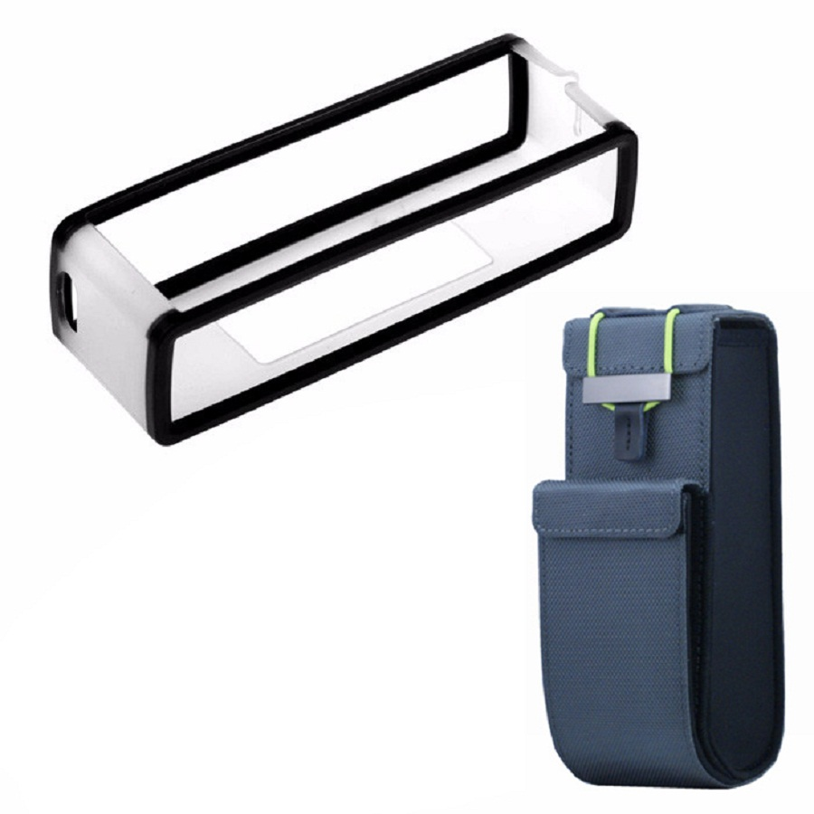 imágenes para 2016 Nuevo Top 2 en 1 Viaje De Nylon Negro Bolsa de Transporte Pouch + TPU Funda de Silicona Suave Para Bose SoundLink Mini Bluetooth altavoz