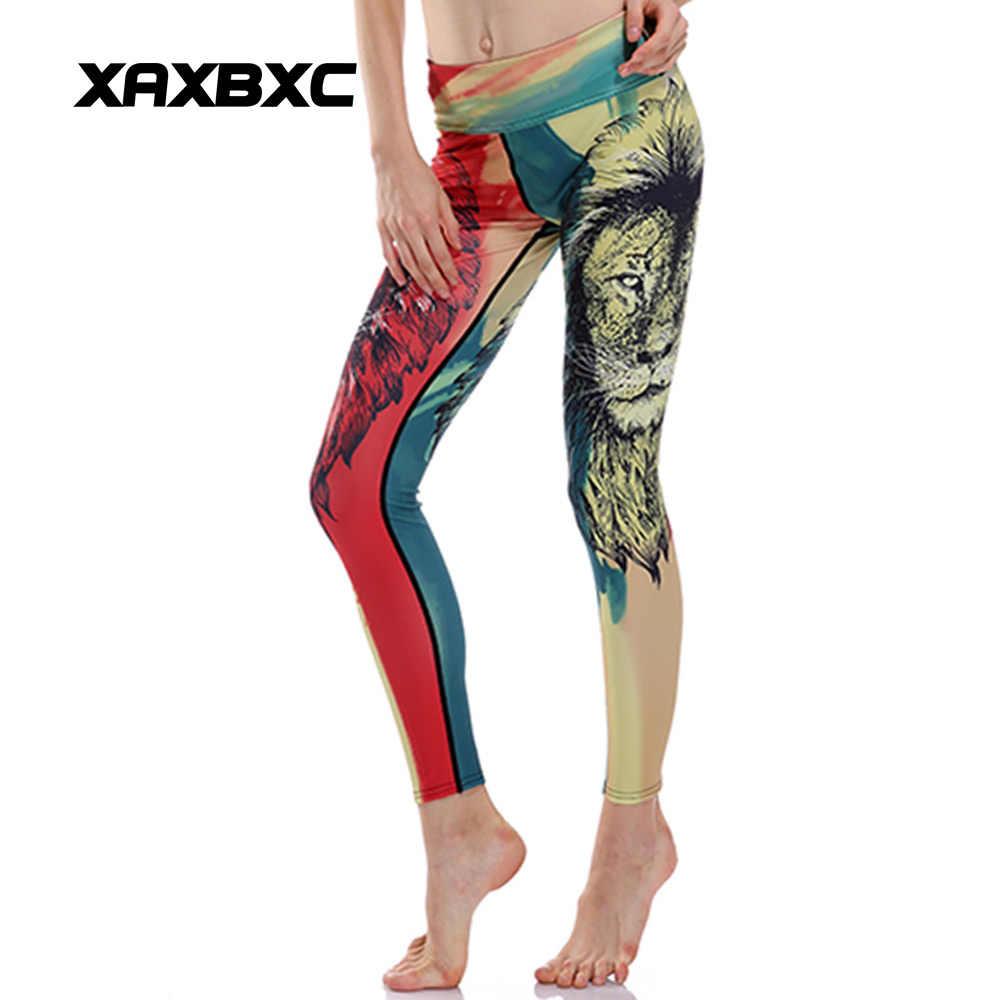 3015f7dd68b5d XAXBXC 0084 HI-Q Stitch Sexy Girl Pencil Pants Lion Rainbow Jamaica Head  Prints Slim