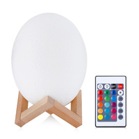 20CM 3D Printing Dinosaur Egg Light Portable Table Lights Built In 500mAh Capacity Battery Lovely Night Lamp With Remote Control