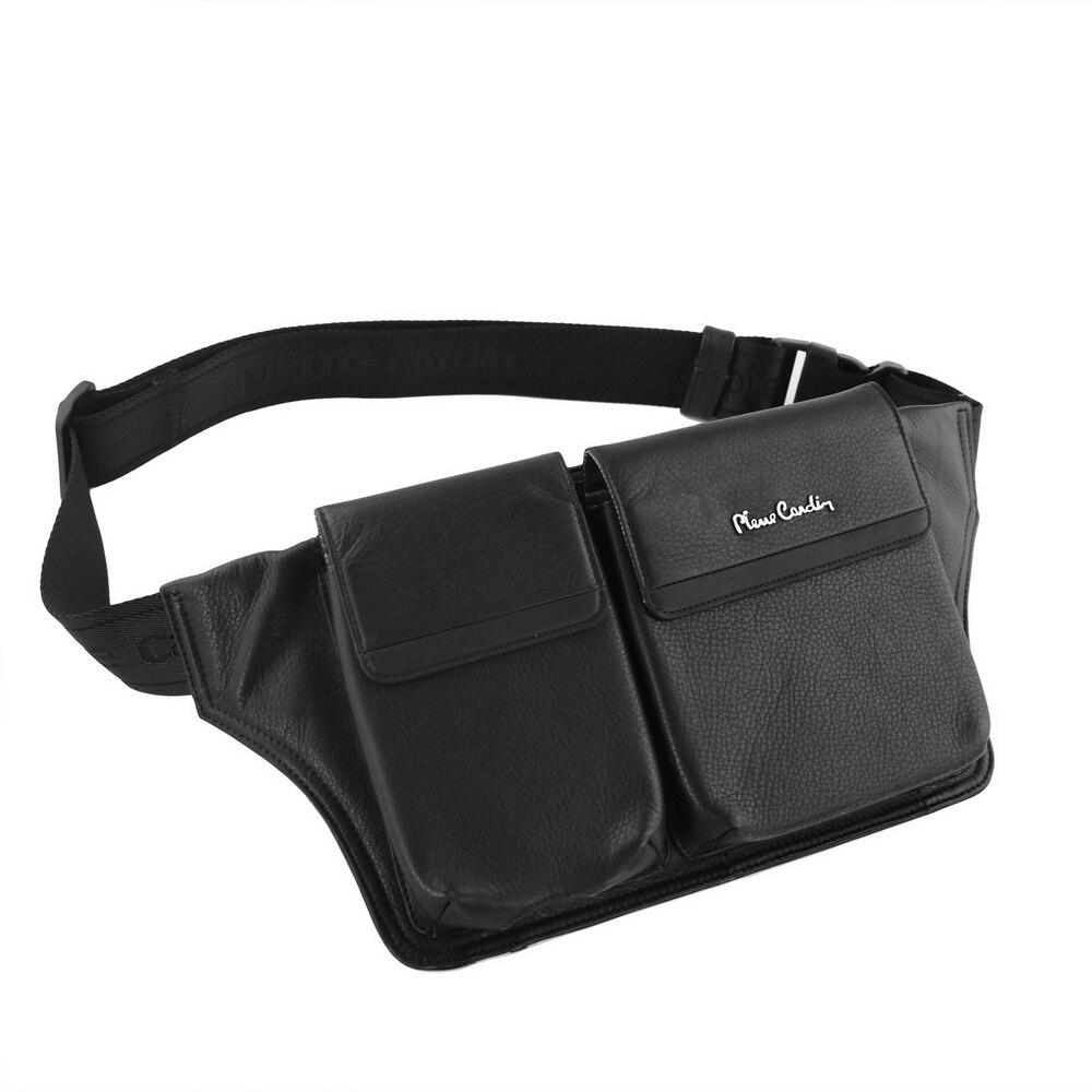 Pierre Cardin pour Apple iPhone XR/XS/XS Max étui téléphone sac en cuir véritable multi-fonction ceinture Clip poche housse de téléphone portable