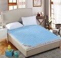 Acolchado protector de colchón de la cama cubierta equipada hoja lavable colchón de terciopelo doble/queen