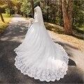Arabic Muslim Bride with Long Trail Luxury Full Sleeve Woman Appliqued Hijab Dresses Robe De Mariage Wedding Dresses