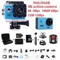 """Ação da câmera F60/F60R Allwinner V3 4 K 30fps 1080 p 60fps Wi-fi 2.0 """"170D Capacete Cam à prova d' água câmera de esportes"""
