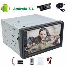 """7 """"PC Del Coche de Autoradio GPS de Navegación de Radio Estéreo Del Coche no DVD Android 7.1 8 core en Dash Headunit Wifi BT USB/SD + Front & Back cámara"""