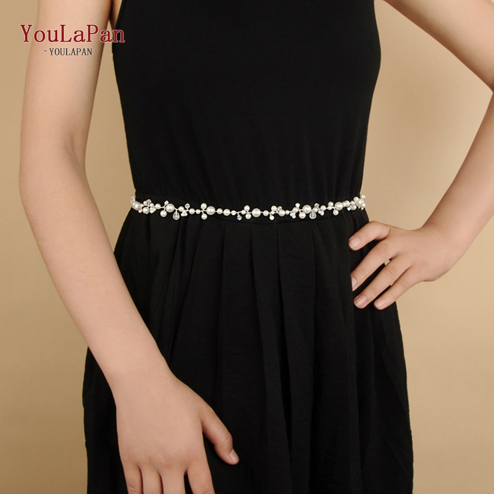 YouLaPan SH03-S Wedding Gown Belt For Dress Silver Wedding Belt Bridal Belt Pearl For Girlfriend Gift Fast Delivery