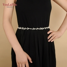 YouLaPan SH03-S wedding gown belt for dress silver bridal pearl girlfriend gift fast delivery