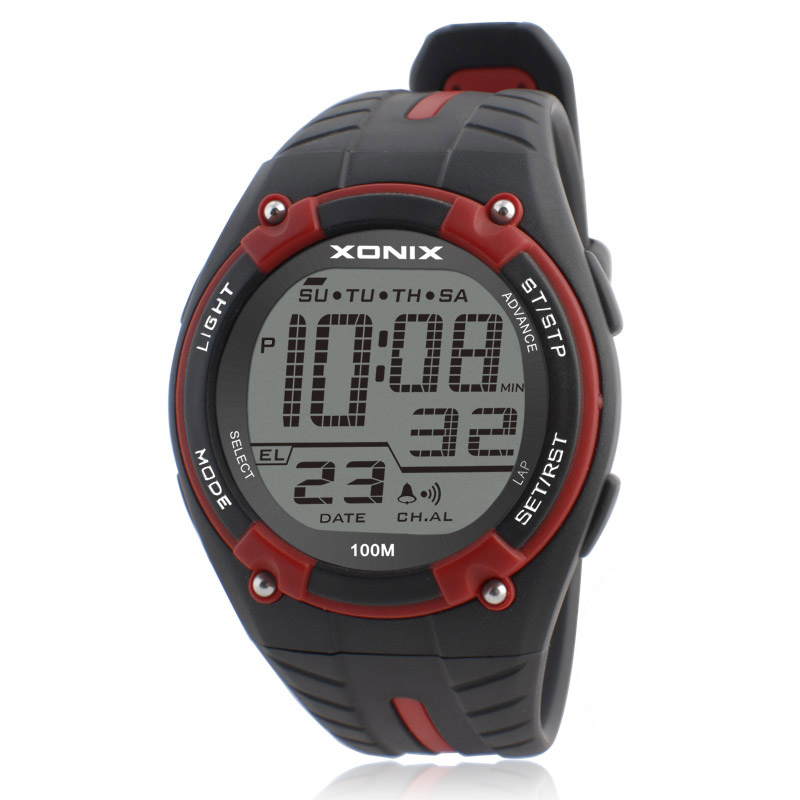 TOP Men Sports Watches Waterproof 100m Outdoor Fun Multifunction Digital Watch Swimming Diving LED Wristwatch Montre Homme 2017 top brand shockproof waterproof diving watch men sport swim watches 100m water resistant for dive wristwatch swimming