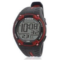 TOP Men Sports Watches Waterproof 100m Outdoor Fun Multifunction Digital Watch Swimming Diving LED Wristwatch Montre Homme