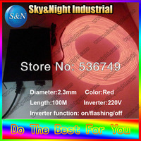 2017 Festive & Party Supplies Christmas decoration el wire neon light colorful light 2.3mm 100M 220v+Free shipping
