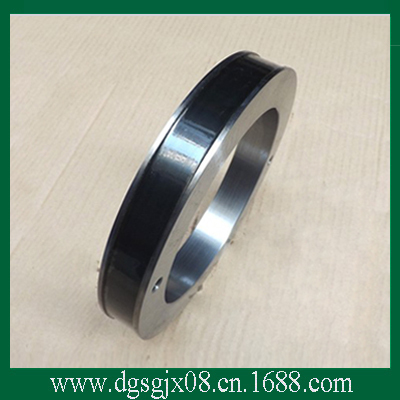 Ceramic coated steel ring   Middle/Large Drawing Machine Copper Wire Guide Steel Ring   Keyway Fixed middle wire drawing machine copper wire drawing parts tungsten carbide coated 45 steel ring steel rim