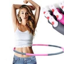 8 юнит фитнес Съемный потеря веса пена твердая трубка Талия для похудения спортивные обручи 95 см