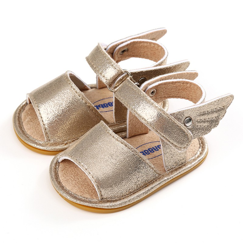 Summer Baby Boys Girls Shoes Solid Wing Fashion First Walker Newborn Infant Toddler Soft Rubber Sole Beach Prewalkers Shoe New