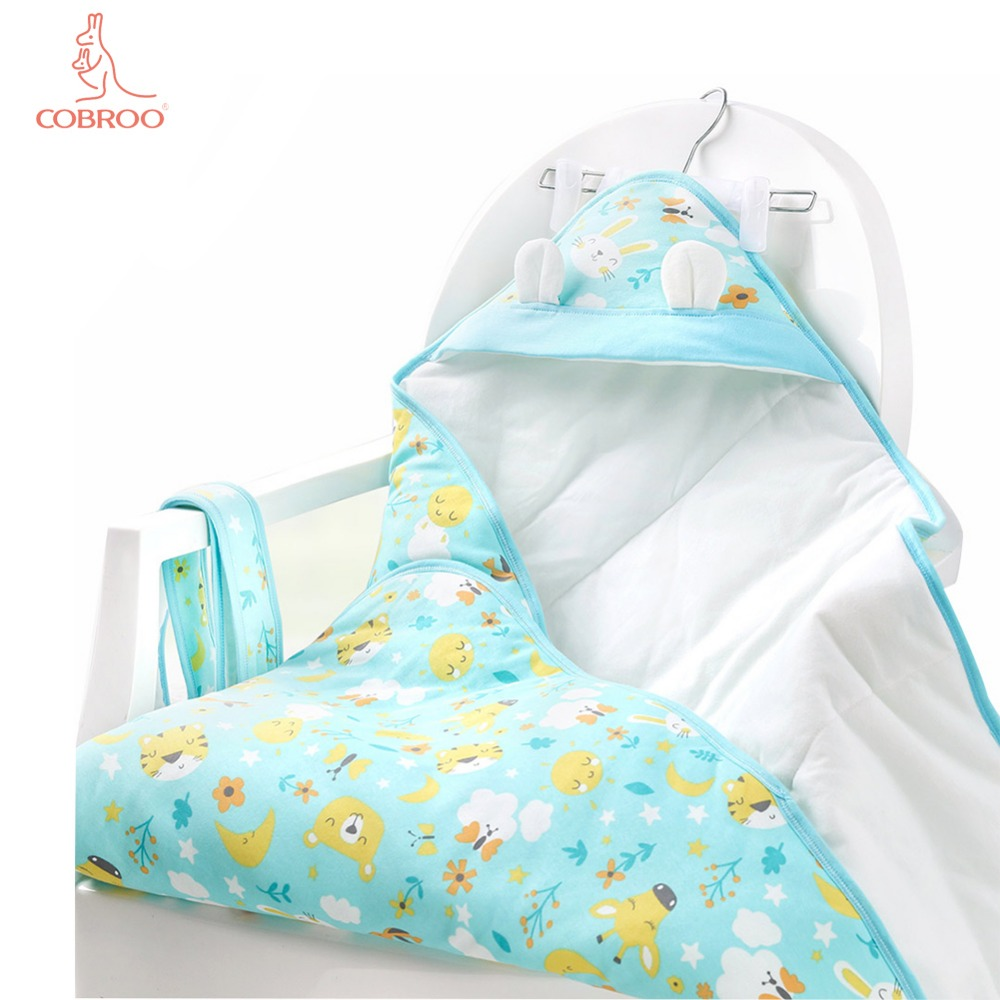 Cobroo Newborn Baby Blanket Swaddle With Lovely Bear Ears