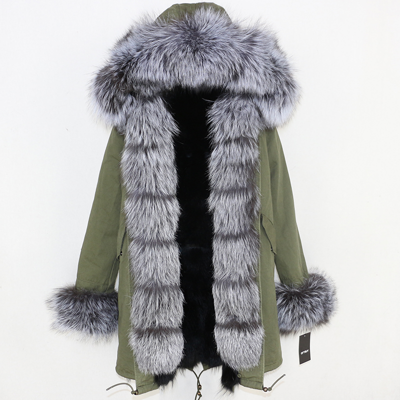 OFTBUY 2019 Winter Jacket Women Long Parka Real Fox Fur Coat Natural Raccoon Fur Collar Hood Thick Warm Streetwear Parkas New 49
